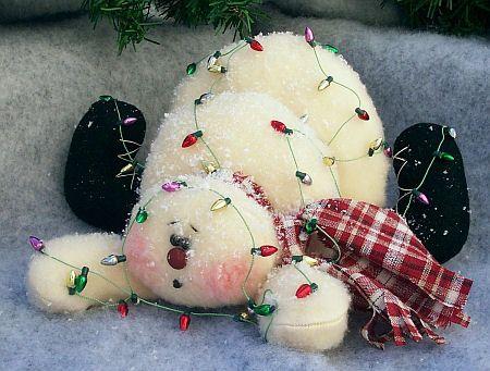 snowmen stuffed dolls | Cloth Doll Patterns by Michelle Allen