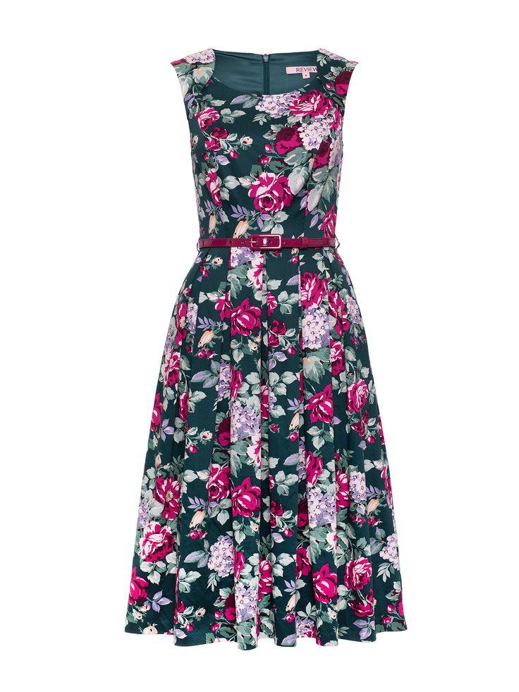 Devine Floral Dress | Pine/Multi | Dresses
