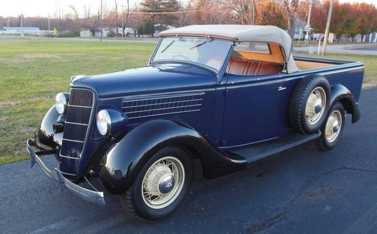 """1935 Ford roadster ute - approximately 385 """"utes"""" were manufactured by Ford Australia in 1935. Of that number , only 7 were Roadster Utility. One was the #304 Well Side and Six were the #302 Straight Side ."""