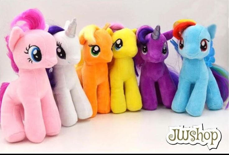 6pcs/set 18cm My Little Pony Plush Doll Pony Toys For Children #Unbranded