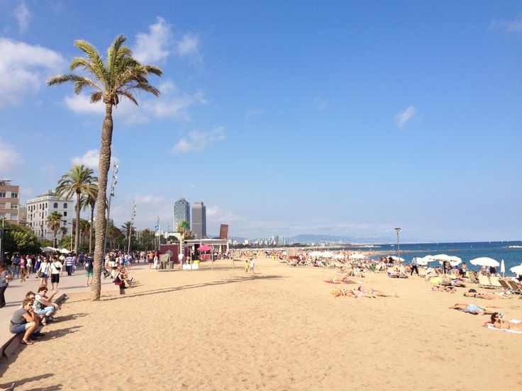 Barcelona, Beach, Spain, Mediterranean Sea