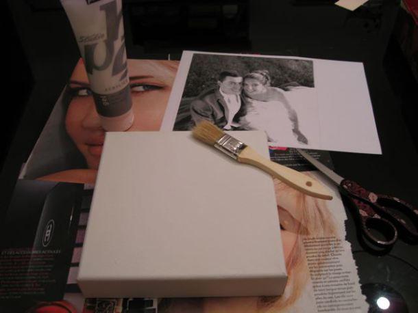 Comment faire pour TRANSFERER une PHOTO sur une toile..., une autre méthode avec aussi le Gel médium