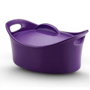 Rachael Ray 4-1/4 qt. Covered Casseroval in PurpleColors Purple, Covers Baking, Casserov Purple, Baking Dishes, Ray Stoneware, Purple Covers, Oval Casseroles, Covers Oval, Rachael Ray