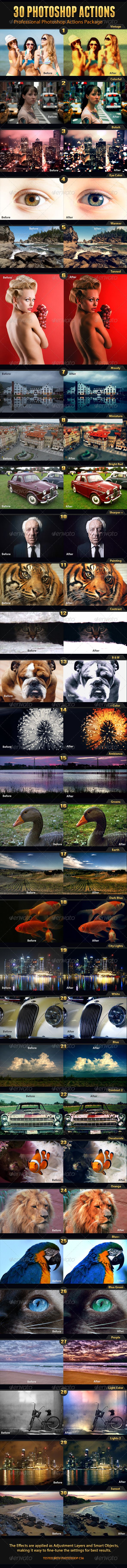 30 Photo Effects  #GraphicRiver        FEATURES:   30