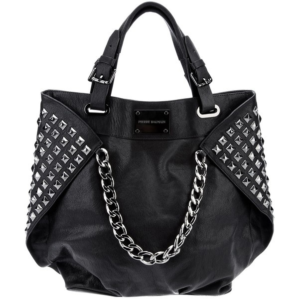 PIERRE BALMAIN studded leather shopper ($885) ❤ liked on Polyvore