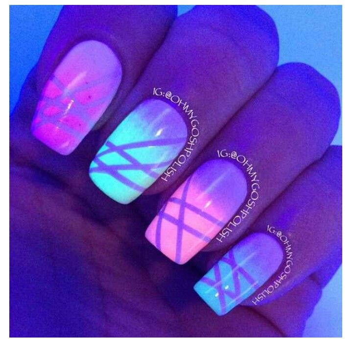 16 best Glow In The Dark Nails images on Pinterest | Dark nails ...