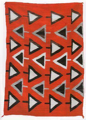 // Navajo blanket. c.1900