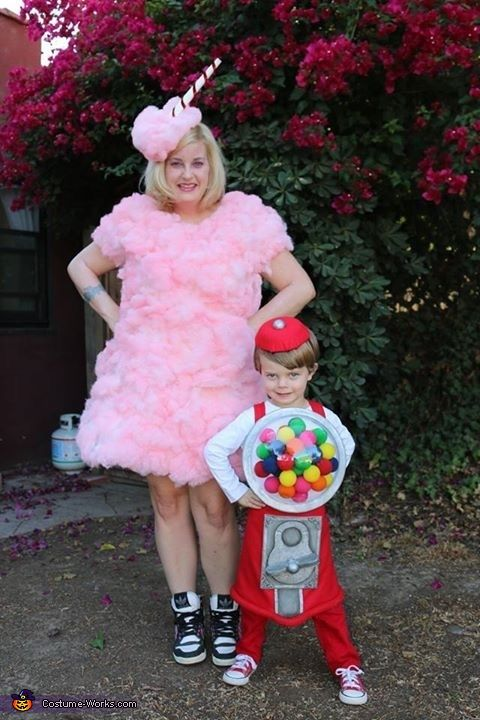 Cotton Candy and Gumball Machine Costume - Halloween Costume Contest via @costume_works