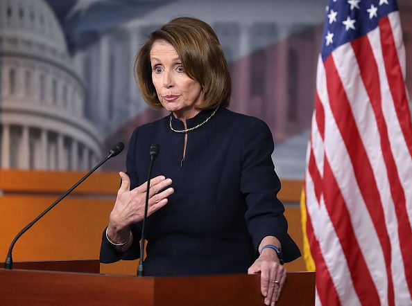 WASHINGTON, DC - DECEMBER 02:  House Minority Leader Nancy Pelosi (D-CA), speaks to the media during her weekly news conference on Capitol Hill, December 2, 2016 in Washington, DC. Earlier this week Pelosi won the House Democratic Leadership election, after a challenge from Rep. Tim Ryan (D-OH).  (Photo by Mark Wilson/Getty Images)