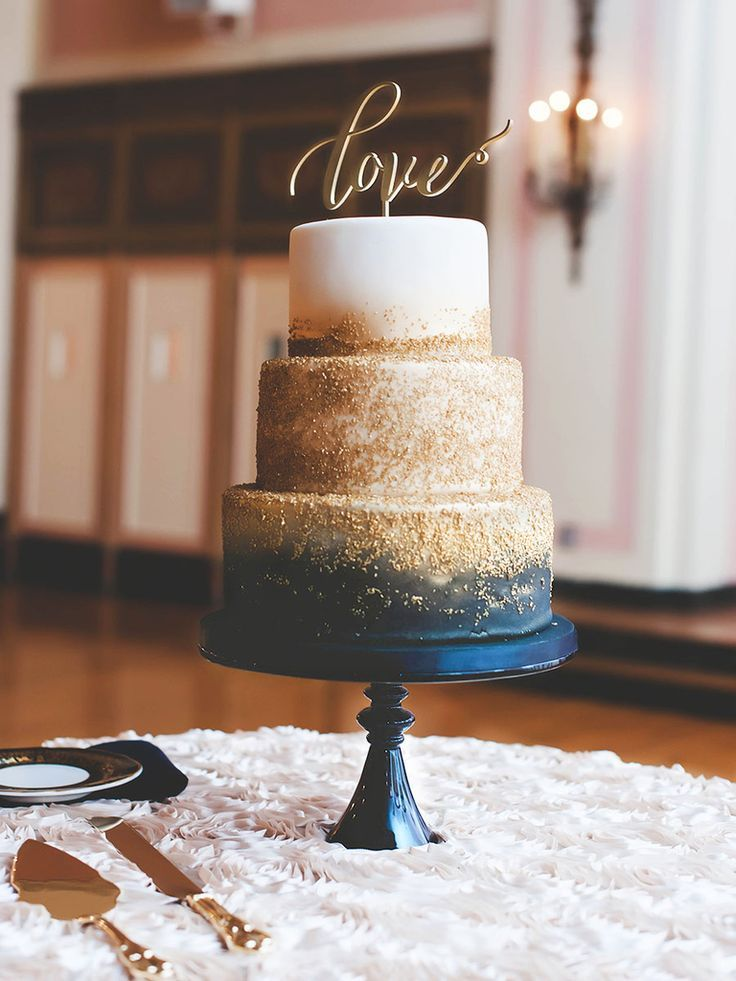 nice 18 Reasons Why You Need a Metallic Wedding Cake | Photo by: SCHMIDT PHOTOGRAPHY ...