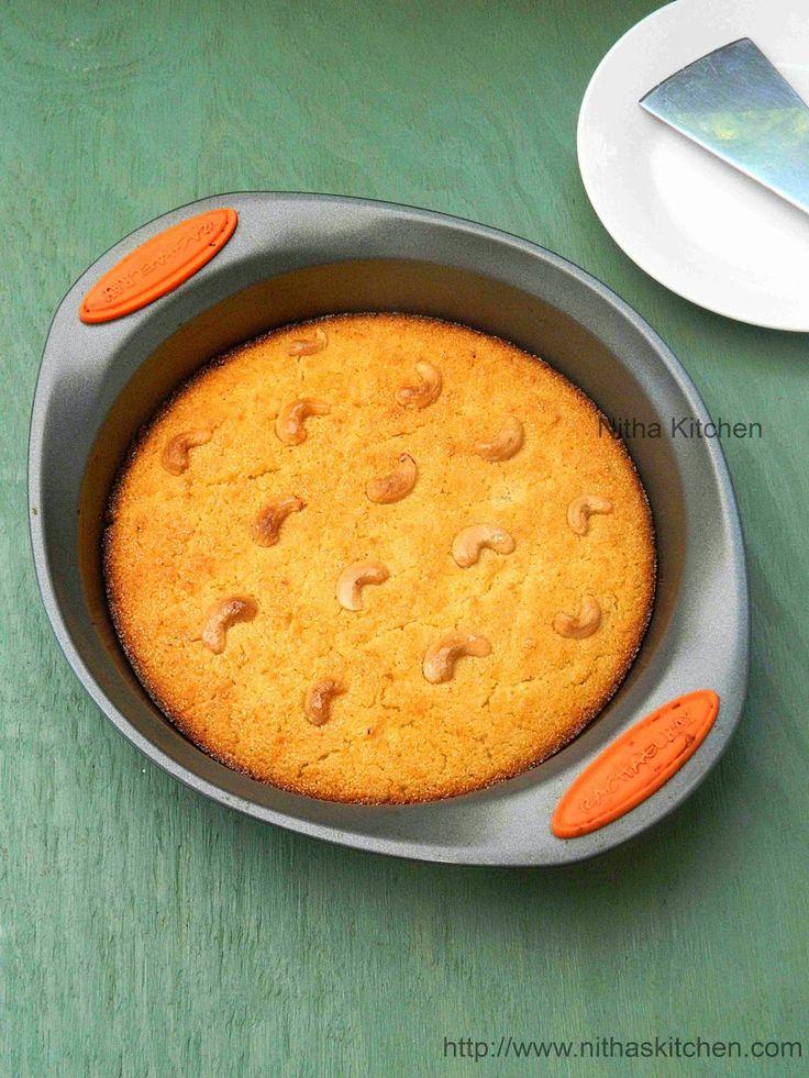 Nitha Kitchen: Basbousa   Semolina Yogurt Cake   Rava Coconut Cake Recipe