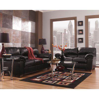 Signature Design By Ashley Commando Leather Living Room Set    FSD 2129SET BLK GG Part 86