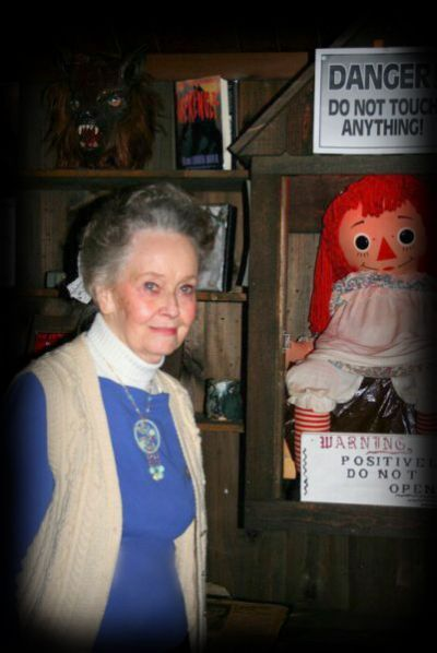 Lorraine Warren and Annabelle