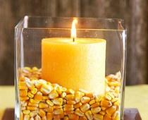 Frugal Thanksgiving Decor ideasIdeas, Fall Table, Fall Decor, Candy Corn, Candies Corn, Falldecor, Candles, Thanksgiving Centerpieces, Thanksgiving Table