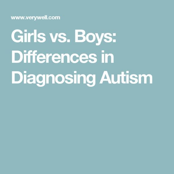 Girls vs. Boys: Differences in Diagnosing Autism