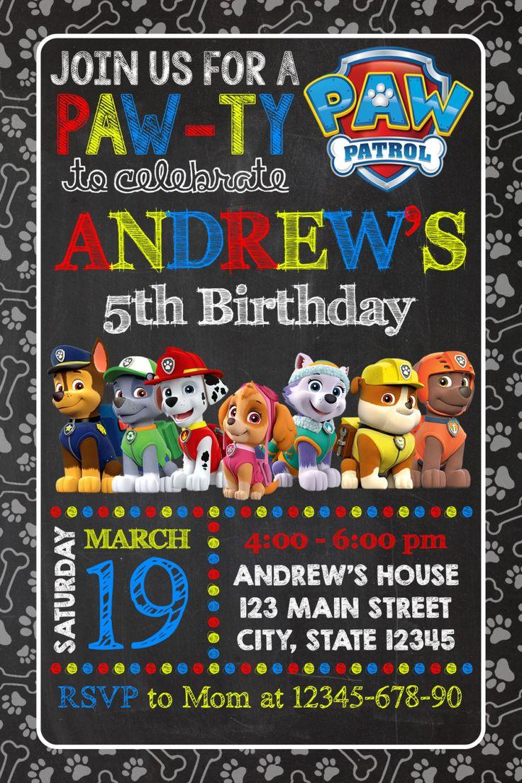 Paw Patrol Invitation Paw Patrol Birthday Party by MADEinvitations