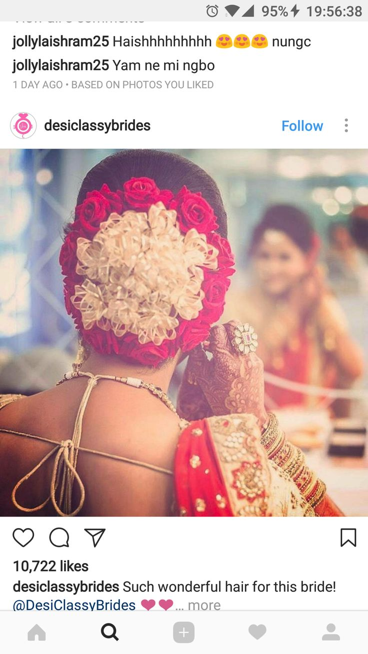 What a beautiful large low bun covered with flowers! Care however should be taken before adopting such hairstyles, as due to it's high static charge, it will cause phlegm to move up in the throat, causing the voice to quaver & a frequent urge to clear the throat. A heavy chabi chhalla with a long & wide hook if inserted at the edge of the pleats of the saree, will reduce this problem as it's hook will activate the acupressure points that act to keep the throat clear.