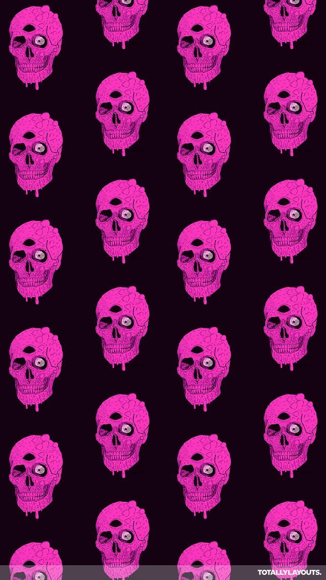 The 25 best skull wallpaper iphone ideas on pinterest for Bright pink wallpaper uk