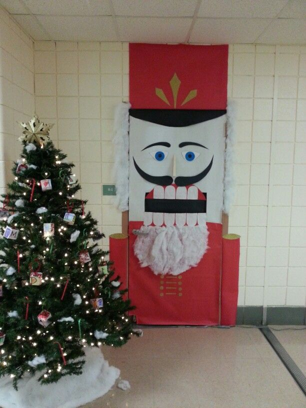 Nutcracker Door Cover School Decorations Office
