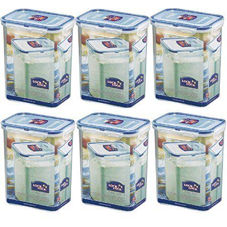 & Lock Lock-Set di contenitori per alimenti, 6/HPL 813s6 1,8 x 6 l