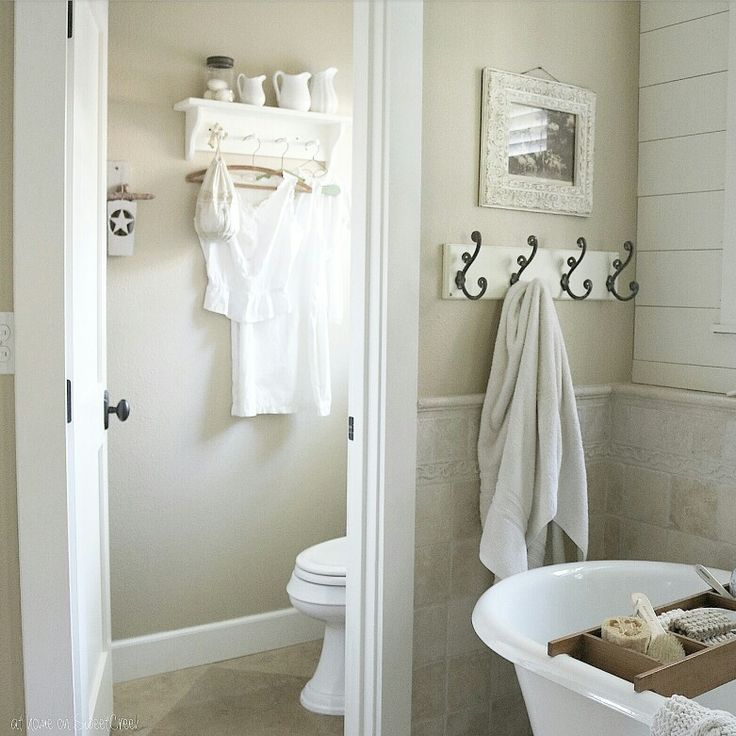 Cottage Farmhouse Bathroom At Home On Sweetcreek