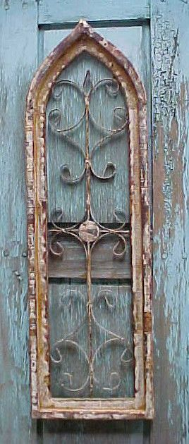 Rustic Architectural Wall Garden Window Shabby 12x35 Wood