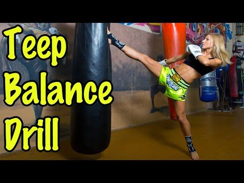 Muay Thai Heavy Bag Drill For Kicking Balance - YouTube