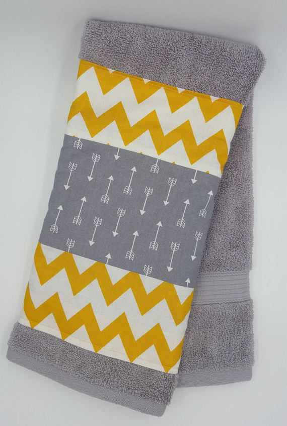 Bathroom towel arrows chevron bathroom decor by TheCottonHaven