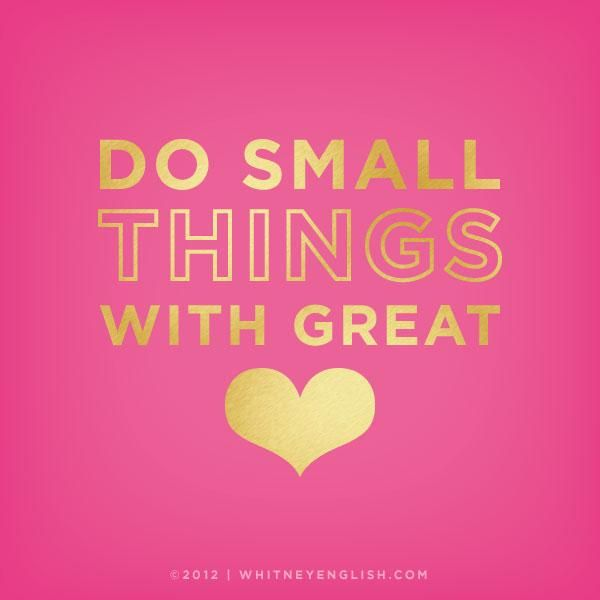 Small things, great <3.