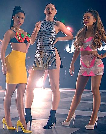 "One bangin' Sunday! The music video for ""Bang Bang"" has arrived. Check out Nicki Minaj, Jessie J, and Ariana Grande looking hotter than ever, and breaking it down together! http://TalentedBeats.com"
