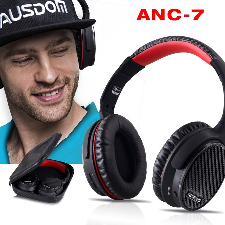 Ausdom ANC7 Active Noise Cancelling Wireless Headphones Bluetooth Headset with Mic APTX Pure Sound for TV Sports Subway Plane //Price: $86.77//     #shopping