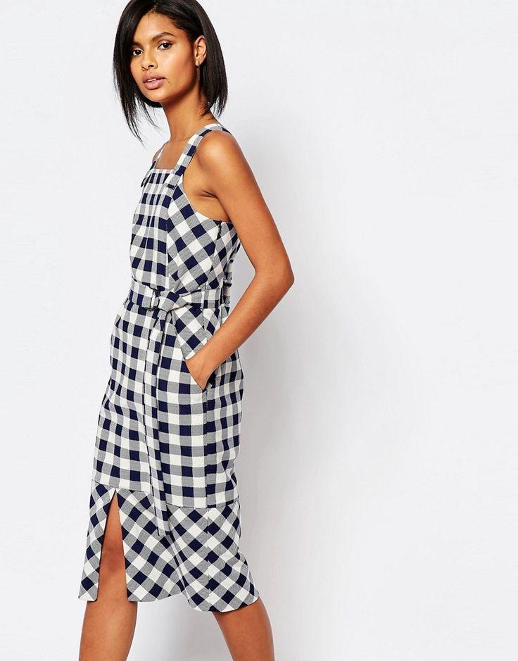 Image 1 ofWhistles Gita Pinafore Dress in Check