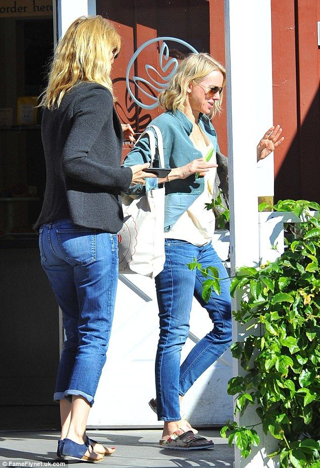 In good company: Naomi Watts was seen chatting with Laura Dern at the Brentwood Country Ma...