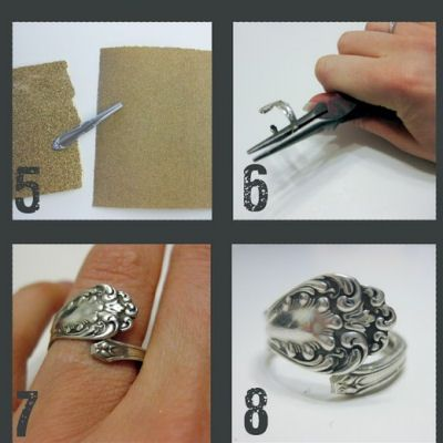 Spoon Ring and other recycle projects