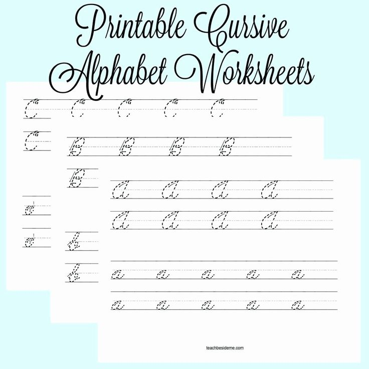 40 Cursive Writing Practice Pdf in 2020 Cursive alphabet