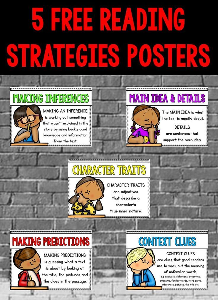 Free Reading Comprehension Strategies And Skills Posters Reading Strategies Posters Free Reading Comprehension Strategies Reading Strategies Posters