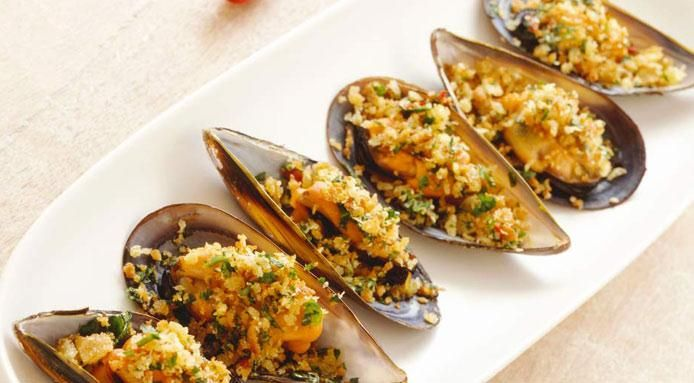 Baked Mussels \\ Party Recipe