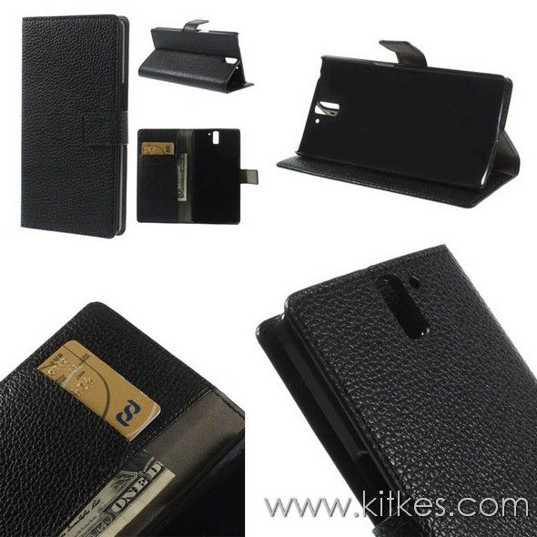 Wallet Stand Leather Case OnePlus One - Rp 135.000 - kitkes.com