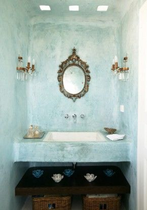 There's something about this texture/appearance that I'd like in my Mediterranean bath!