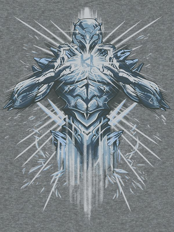 Iceman Cometh An ultra cool tee has crash landed in our Killer Instinct collection! Sporting none other than the cyrokinetic alien Glacius, this shirt is sure to send chills up and down your spine! Do
