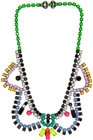 DIY Tom Binns necklace with either nail polish or acrylic paint on tired rhinestone necklace!
