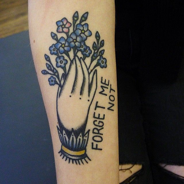 Hannah Louise Clark / forget me not tattooForget Me Nots- remembrance and true love, and the joy of living