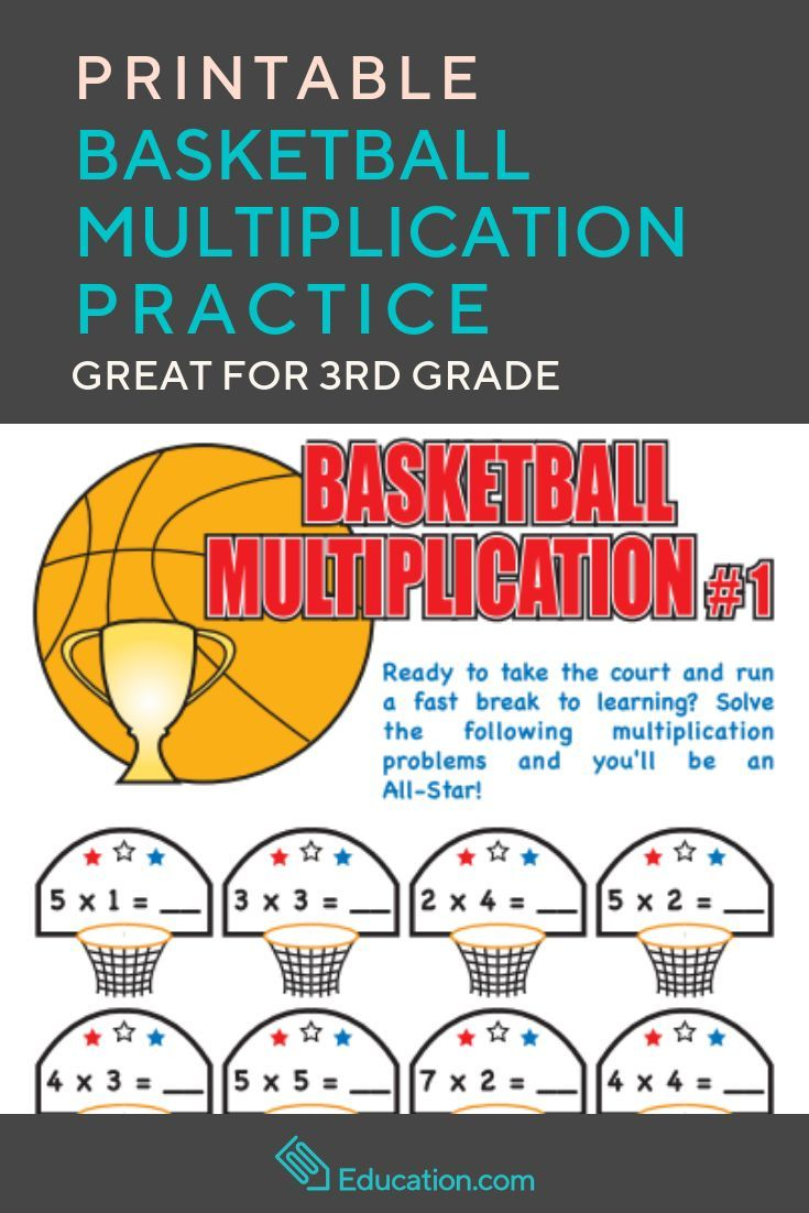 Basketball Multiplication Worksheet Education Com Basketball Math Math Practices Math Methods
