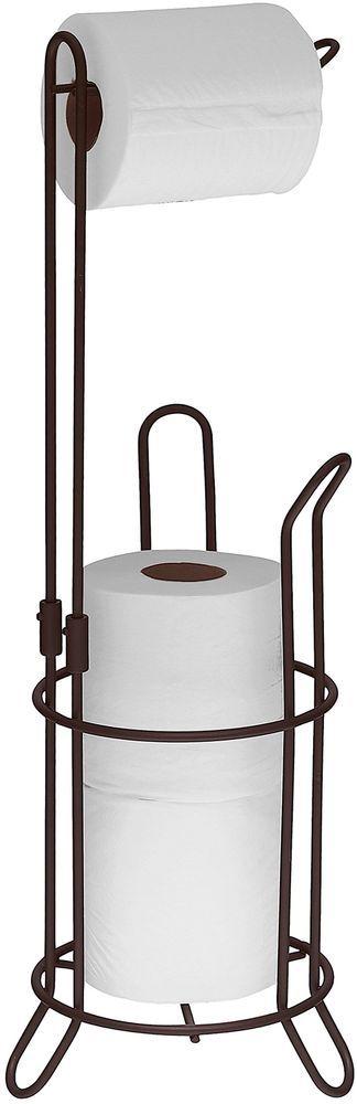 Bronze Toilet Paper 3 Roll Storage Stand Bathroom Tissue Holder Free Standing  #SimpleHouseware