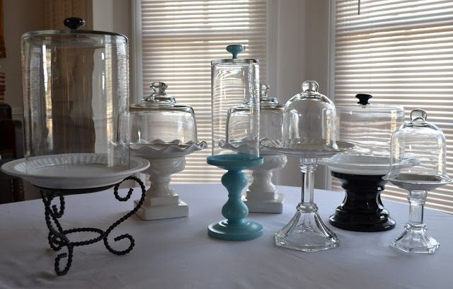 Cloches from the thrift store. Just add glue and maybe some paint if you choose! Fantastic! These are my favorite.