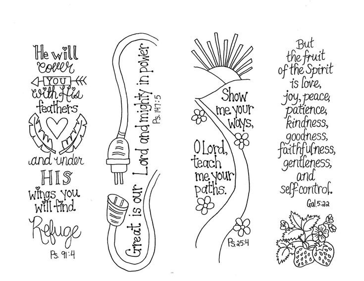 Bible Journaling Templates Scripture Bookmarks Printable