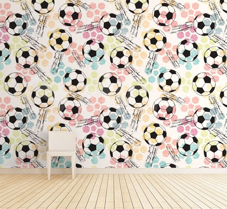 Wallpaper Sticker SOCCERBALLS by Sticky!!!