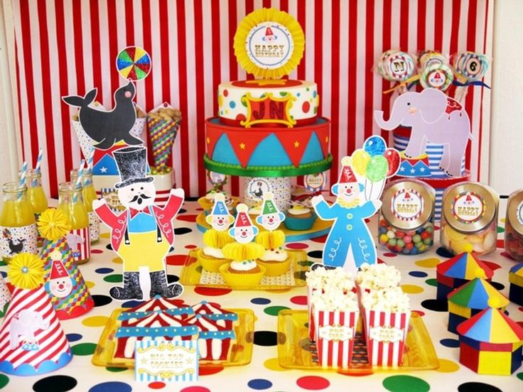 Joint Big Top Circus Carnival Birthday Party