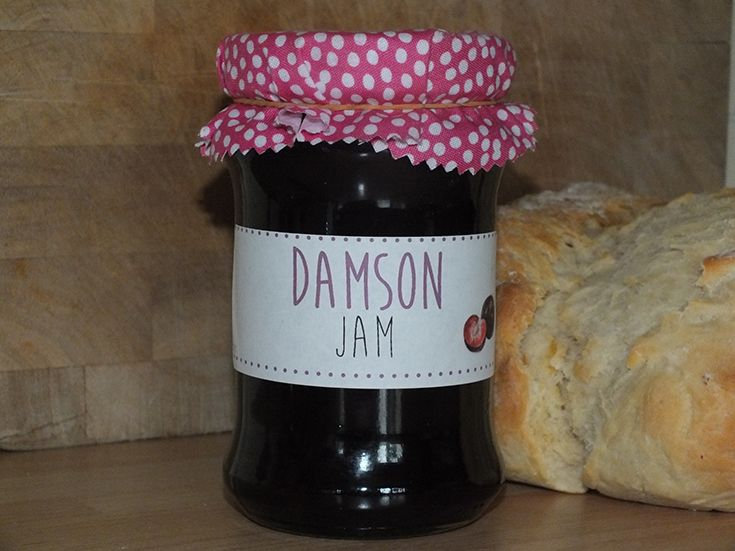 Tasty damson jam recipe is easy to make with plums from the garden and lovely on a slice of homemade buttered bread, makes a pretty pink soft set fruity jam