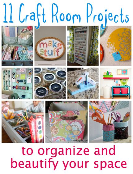 11 Craft Room Projects to Organize and Beautify Your Space - @Vanessa Mayhew & CraftGossip